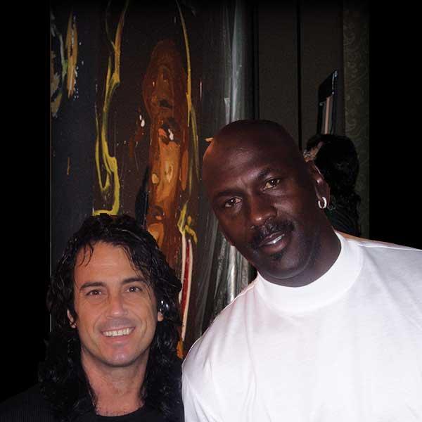 Michael Jordan with Michael Israel
