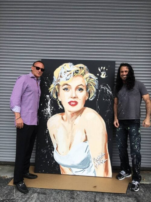 marilyn monroe white dress painting by michael israel with collector