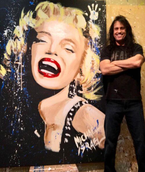 marilyn monroe smile portrait with michael israel