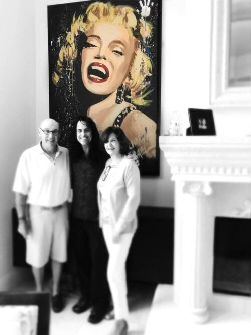 marilyn monroe smile portrait by michael israel in collectors home