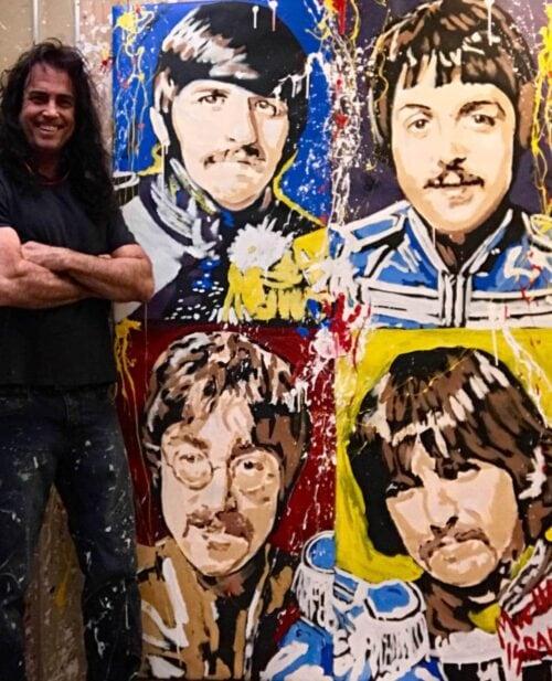 Beatles Sgt Pepper painting by Michael Israel